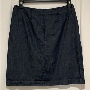 Tailored A Line Denim Skirt  Size 10